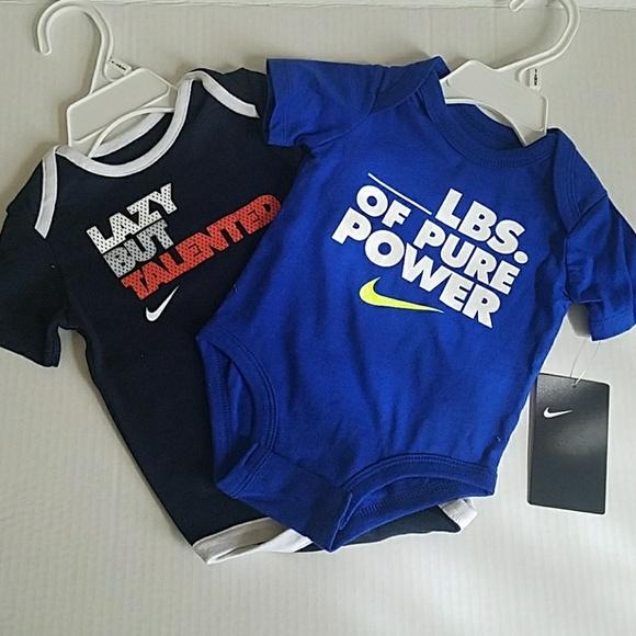 d1e148453 Set of 2 Nike Onesies. NWT. Nike. $22 $0. Size. 0-3M